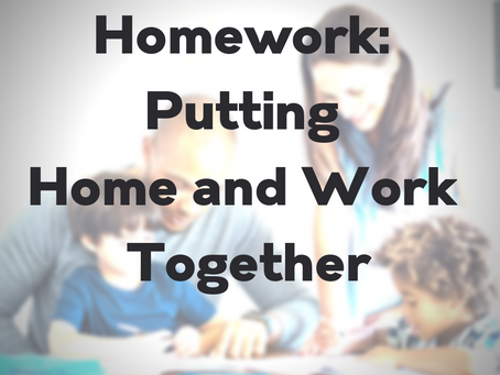 Homework: Putting Home and Work Together