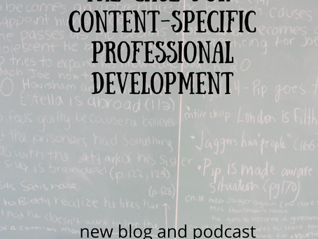 The Case for Content-Specific Professional Development