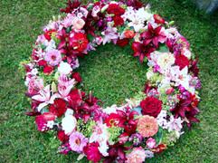 Blumenkranz Sommer Rot