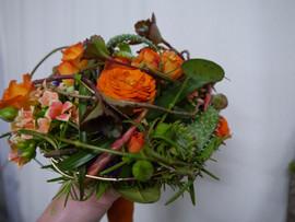 Brautbinderei orange 3