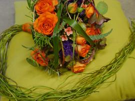 Brautbinderei orange 5
