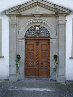 Eingangsdekoration Kirche