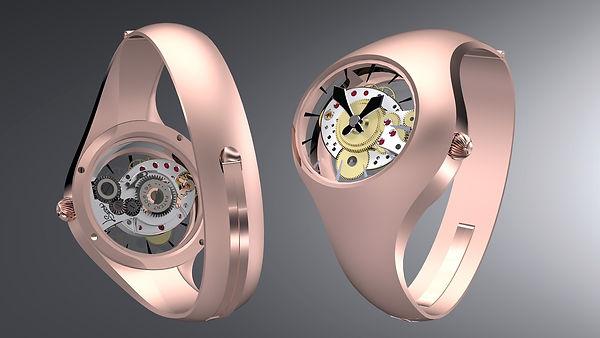 hodinky z ruzoveho zlata od ludka seryna