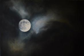 Měsíc 1, olej na plátně / Moon 1, oil on canvas – 140 x 210 cm