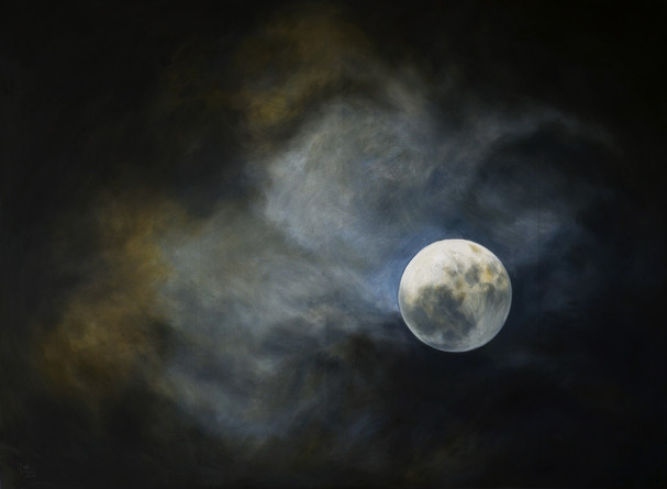 Měsíc 2, olej na plátně / Moon 2, oil on canvas – 140 x 190 cm