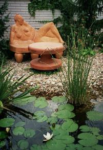 šamotová zahradní plastika | garden fire clay sculpture