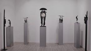 """bronzové plastiky od Igora Kitzbergera na výstavě """"Collezione"""" v Knupp gallery, 2017"""