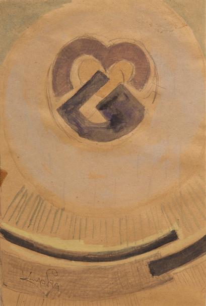 frantisek kupka kresba abstraktni kompoz