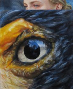 Orel v modro-žluté / Eagle in blue-yellow
