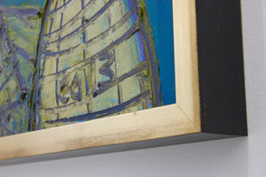 Hlava - detail masívního dřevěného rámu