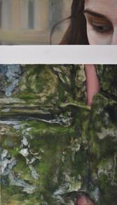 Oko a struktury zdi, olej na plátně / The eye and structures of wall, oil on canvas – 105 x 60 cm