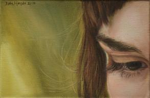 Soustředěný pohled, olej na plátně / Concentrated look, oil on canvas – 20 x 30 cm  soukromá sbírka   private collection