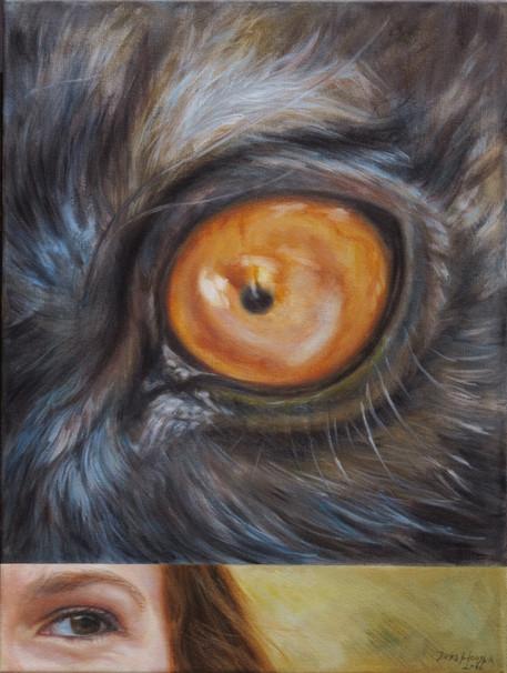 Lemur černý v horizontální kompozici / Black lemur in a horizontal composition