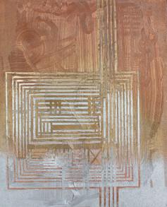 Labyrint zlatý stříbrný | Labyrinth golden-silver