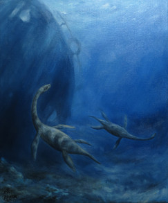 mořský had typu plesiosaurus / sea snake plesiosaurus type