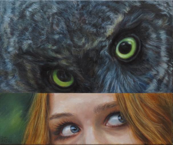 Mládě puštíka / Young Tawny Owl