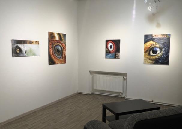 """autorská výstava obrazů Jirky Housky - """"Z očí do očí"""", 2016"""