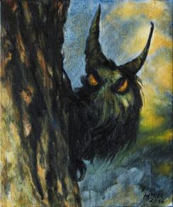 Strašlivý čert za stromem / Dreadful devil behind a tree