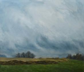 Mlha s hnojem,  olej na plátně, v soukromé sbírce / Fog with a muck, oil on canvas, in a private collection – 100 x 115 cm