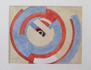 Modré a červené kruhy
