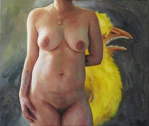 Půlakt s kuřátkem   Half Nude With a Chicken