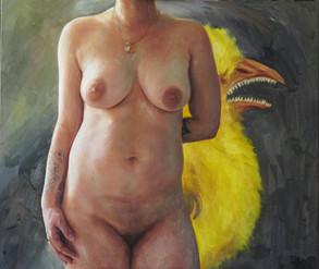 Půlakt s kuřátkem | Half Nude With a Chicken