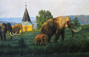 Mamuti za vsí   Mamooths Behind A Village
