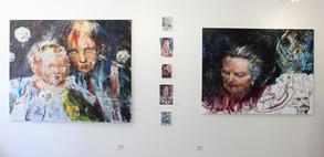 "Martin Šárovec - instalace výstavy ""Portrait Now"""