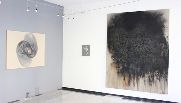 """Jan Uldrych - instalace autorské výstavy """"KOLO"""""""