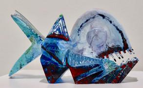 tavené sklo | melted glass  18 x 32 x 10 cm