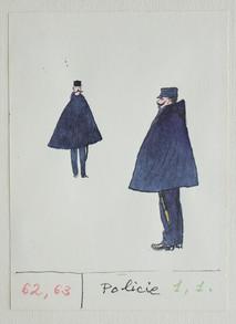 """Kamil Lhoták - kostýmní návrhy ke hře """"Miláček"""" (G.D. Maupassant, 1956)"""