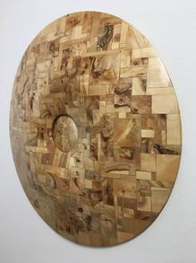 Dřevěný štít – selský dvůr | Wooden Shield