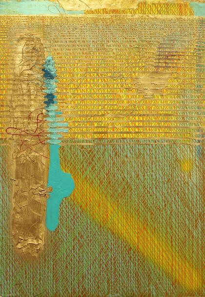 Zlatá osnova krajina | Golden Outline Landscape