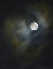 Menší měsíc, olej na plátně / Small Moon, oil on canvas – 70 x 55 cm