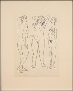 kresba z šedesátých let  rámováno za UV sklem  formát cca A3