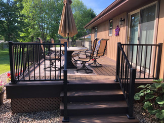Re-deck with Trex railing and decking in Freedom