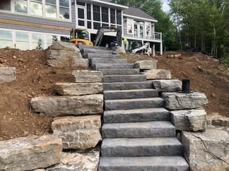 Stairway to the lake in Lakewood area