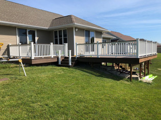 Trex re-deck with new railing in the Fox Valley
