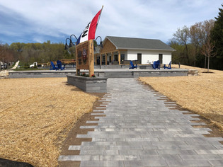 Walkway to new brew pub in Egg Harbor