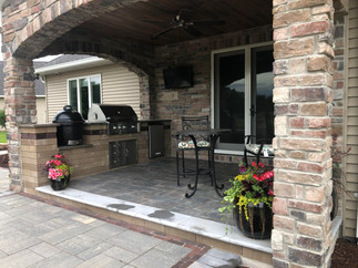 Patio and grill station