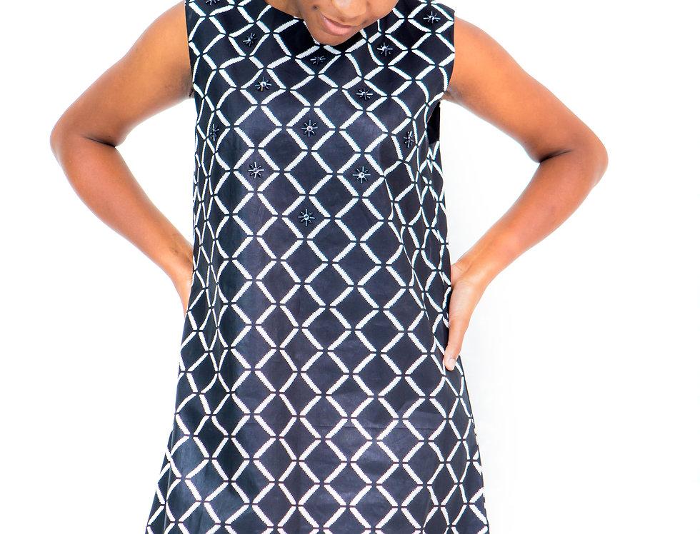 Beaded Square Armhole Dress