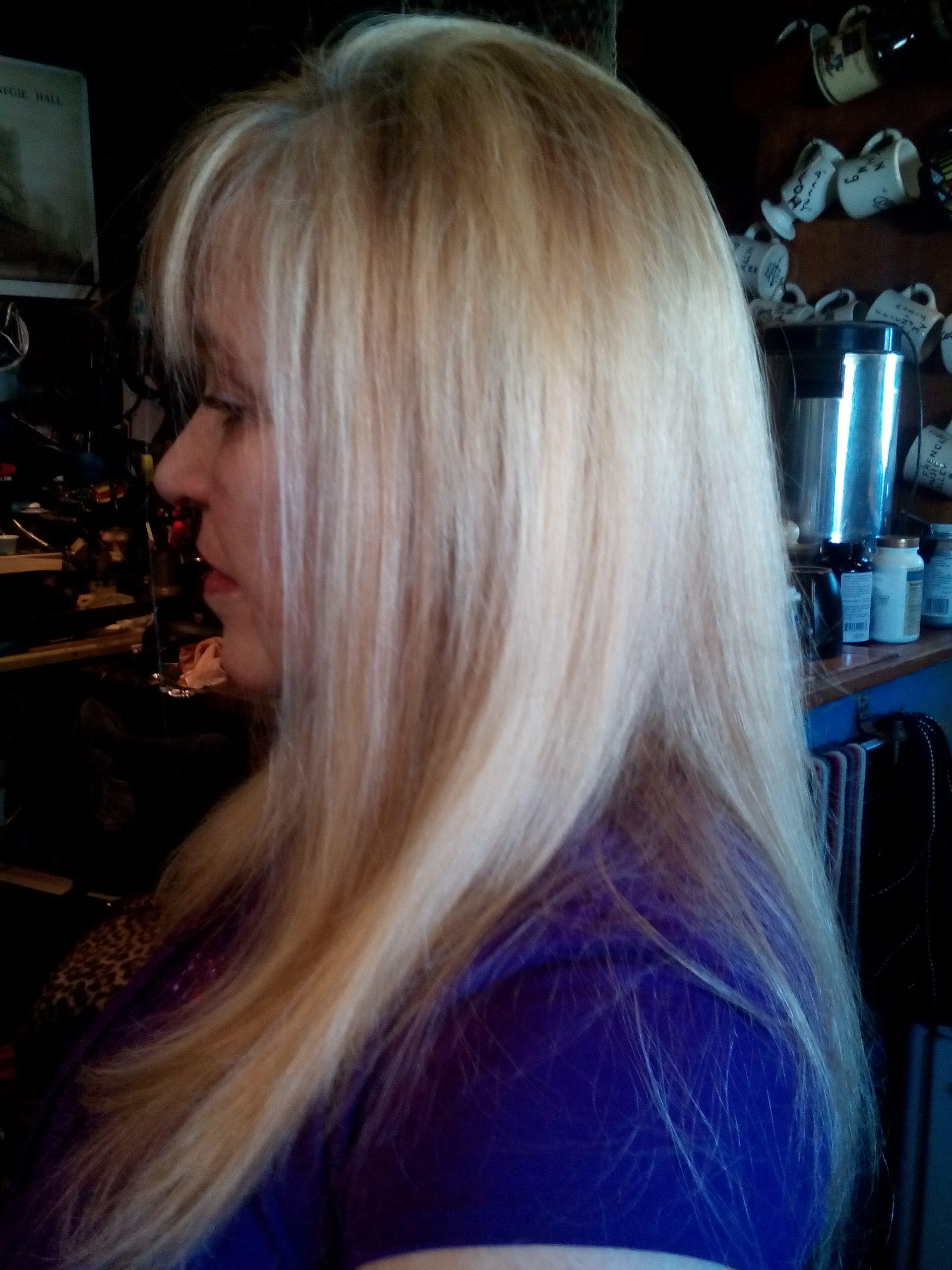Hair Color golden blonde