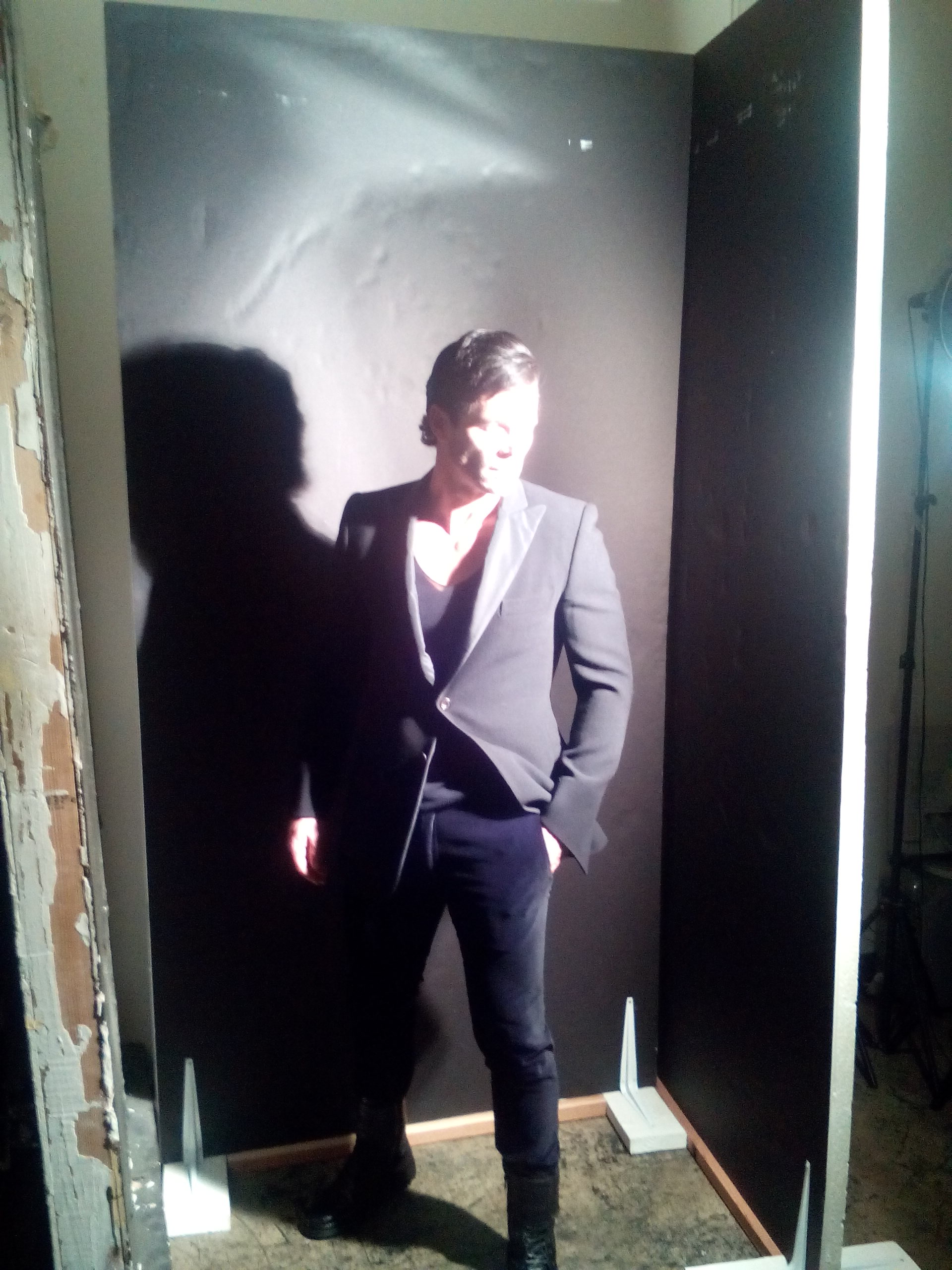 Behind-the-scenes editorial shoot