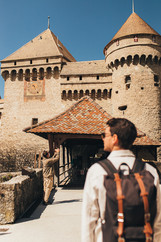 Chillon castle entrance