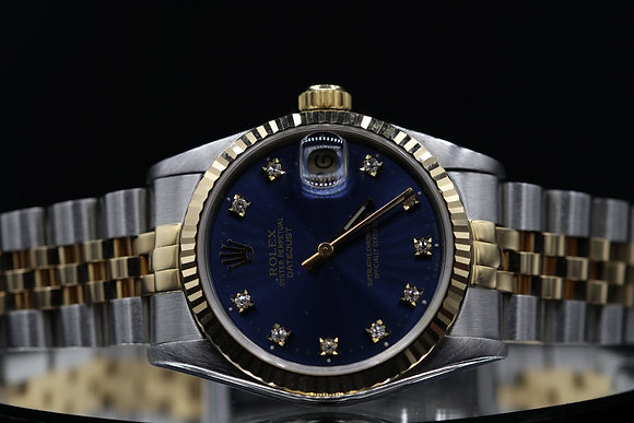Rolex pre owned datejust size 31  two-tone steel and 18 k gold