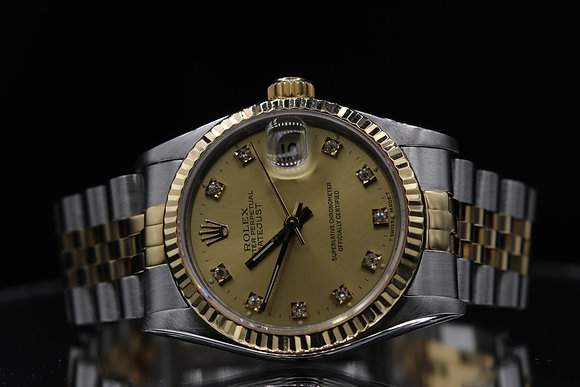 Rolex Pre owned datejust size 31  two-tone steel and18 k gold
