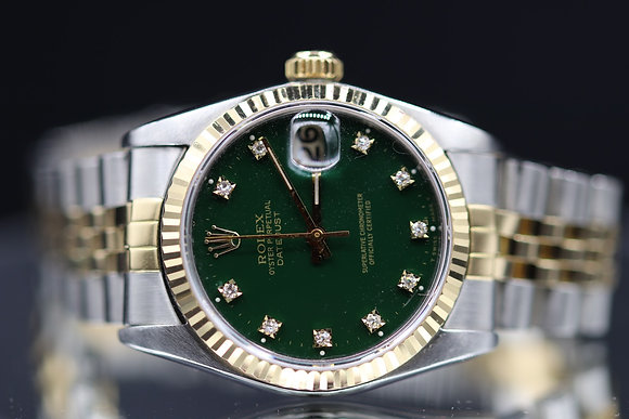 Rolex pre owned datejust size 31 two-tone steel and18k gold