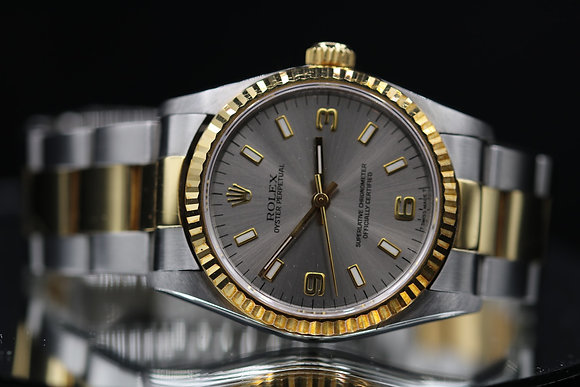 Rolex use oyster perpetual size 31  two-tone steel and18k gold