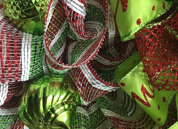 Snowman Christmas Grapevine Wreath