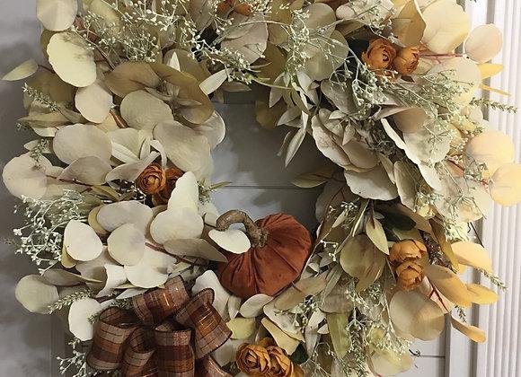 Eucalyptus & Berry Grapevine Wreath